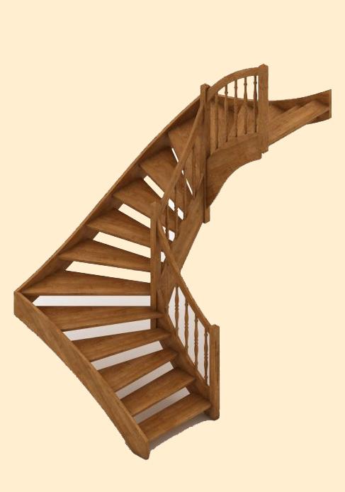 Винтовые лестницы из дерева и металла в Архангельске